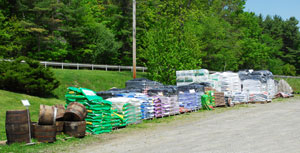 We also have soil, sweet peet, and a broad selection of gravel.